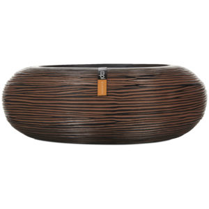 Capi Europe – Nature Rib Round Bowl – Brown – 35cm