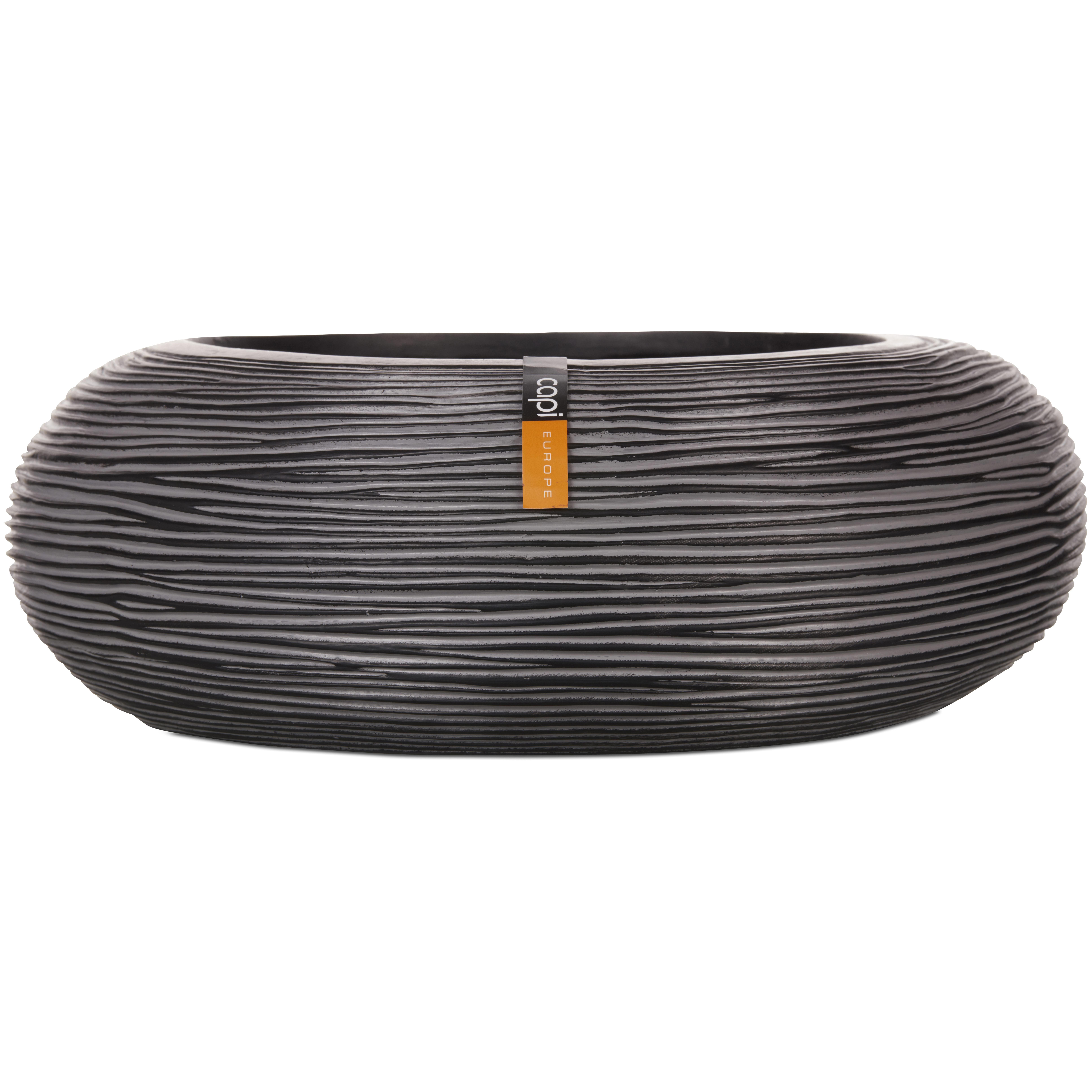 Capi Europe – Nature Rib Round Bowl – Black – 35cm