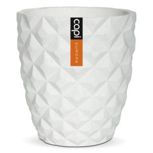 Capi Europe – Lux Tapered Vase – White – 15cm