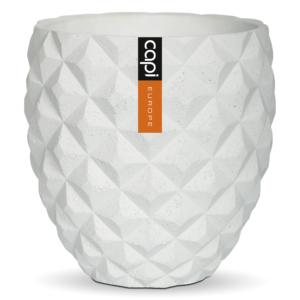 Capi Europe – Lux Elegant Round Vase – White – 16cm